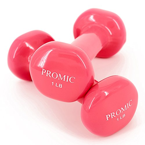 Dumbbells Products : PROMIC 1lb to 20lb Hand Weights Deluxe Solid Vinyl Dumbbells with Non-Slip Grip for Hand Exercise