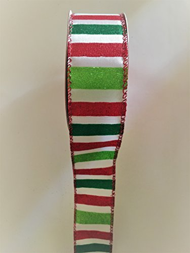 15-x-30-ft-white-red-and-green-vertical-stripes-wired-edge-ribbon
