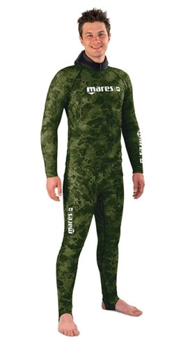 Mares Pure Instinct Mens Camo Green Rashguard Shirt and Pants (Medium / Large) by Mares Pure Instinct Free Dive