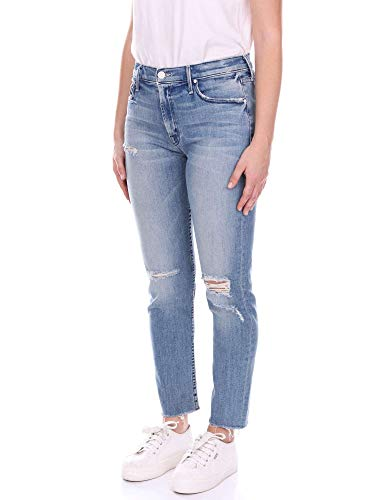 Cotone Mother 1124360blue Donna Jeans Blu CwC1qSt