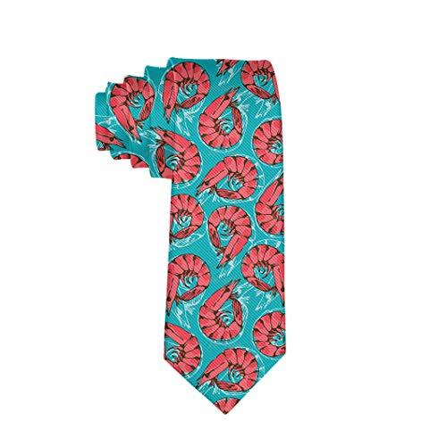 Gentleman Tie - Shrimp Seafood Necktie, Wedding Business Graduation Party Dress Ties]()