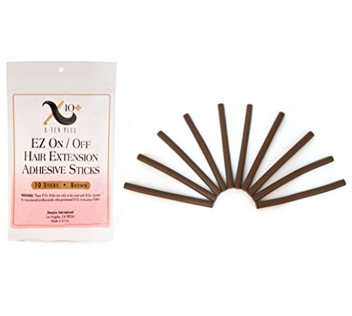 Keratin Hair Glue - Fusion Hair Extension Keratin Glue Sticks by The Hair Shop - Professional Hair Adhesive Sticks for Extension Glue Gun (Brown)