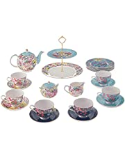 Stechcol Floral Printed Tea Set, 24 Pieces - Multi Color
