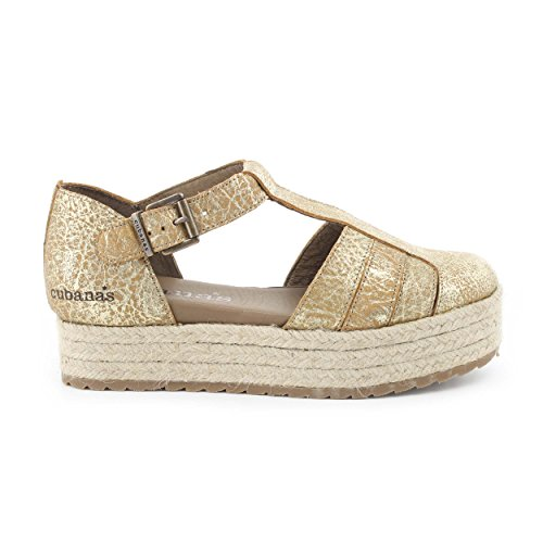 Cubanas Kitty270, Espadrillas Donna oro