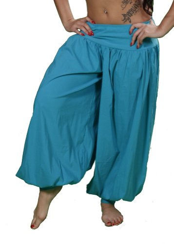 Belly Dance Cotton Harem Pants | Al'adin Bloom - (Adult Aladin Costumes)