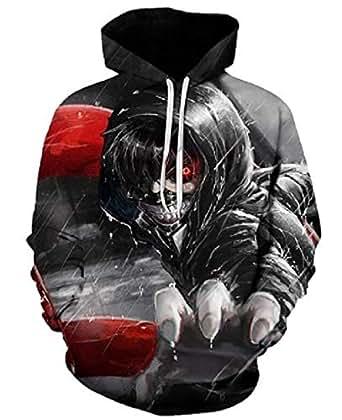Tokyo Ghoul Japanese comics printing Multi Color Round Neck Hoodie & Sweatshirt For Unisex