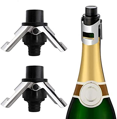 5x Silicone Champagne Expansion Stopper Sparking Bottom Plug Sealer Sealer Saver