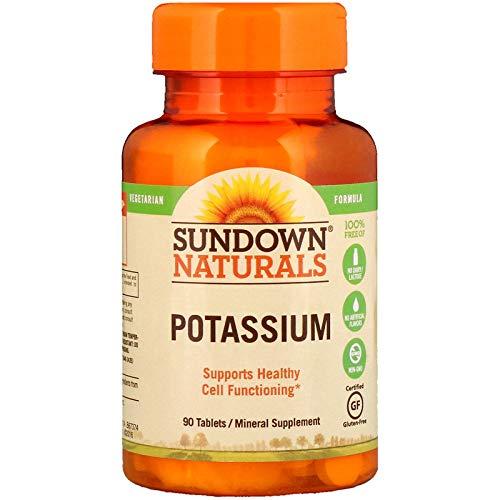 Sundown Naturals Potassium Mineral Supplement Tablets - 90 ct, Pack of 2 (Best Natural Potassium Supplements)
