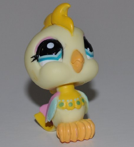 Loose - Littlest Pet Shop Cockatoo #1452 LPS Collectible Replacement Figure OOP Out of Package /& Print Hasbro Yellow, Blue Eyes Collector Toy Retired