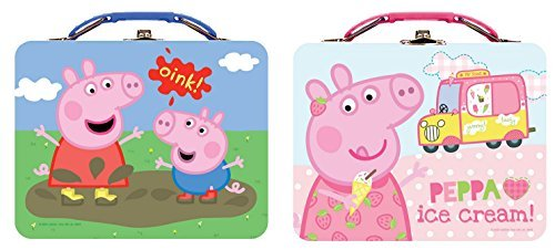 [Lunch Box - Peppa Pig - Metal Tin New (1 Style Only) tin887607-ast] (Nutcracker Costumes For Sale)