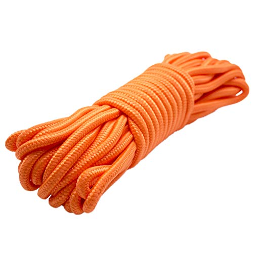 Emergency Zone 9mm (3/8 inch) Nylon Braided, 50 Foot, Multi-Purpose Rope. Available in 1, 2, 3, 4, 40 Packs. Black, Green, White, Red, Orange, Camouflage Color Options (1, Orange)