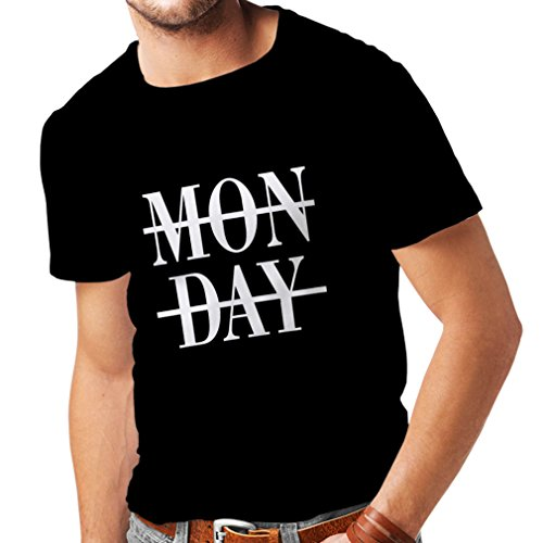 T shirts for men Oh Shit it's Monday! I hate Mondays (XX-Large Black White)