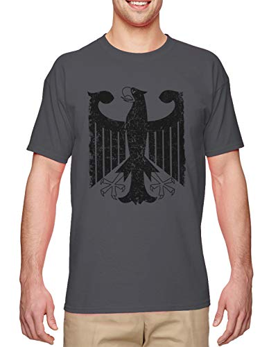 German Eagle Coat Of Arms - German Eagle - Coat of Arms Deutschland Men's T-Shirt (Charcoal, Large)