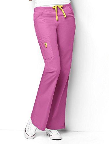 Waist Uniform Drawstring Scrubs - WonderWink Women's Only Bottoms, Peony, Medium