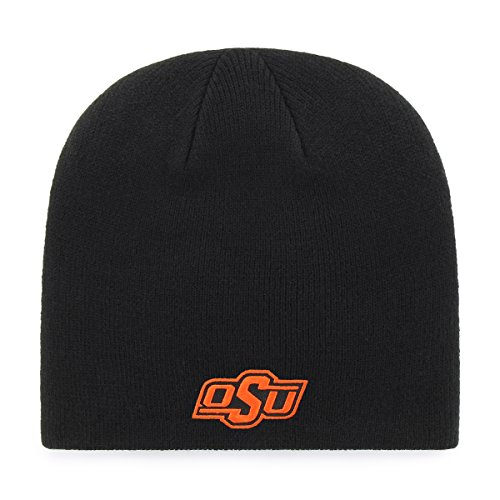 OTS Adult Men's NCAA Beanie Knit Cap, Team Color, One - State Oklahoma Acrylic