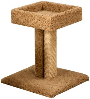 Pacific Pets Platform Sleeper Cat Lounger : Color TAN : Size 24 INCHES