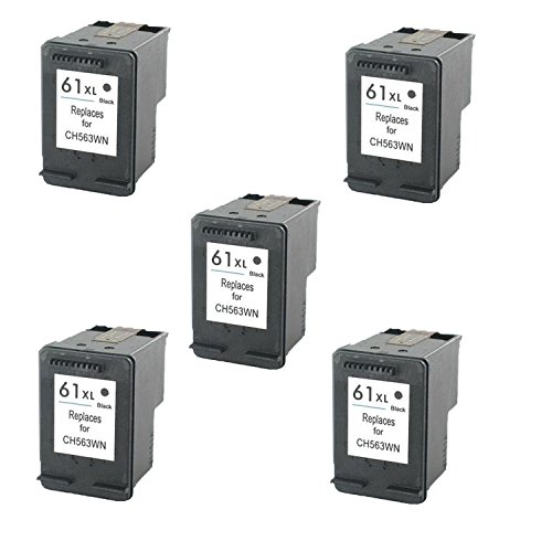 Remanufactured Ink Cartridge Replacement for  HP 61XL (5 x Black)