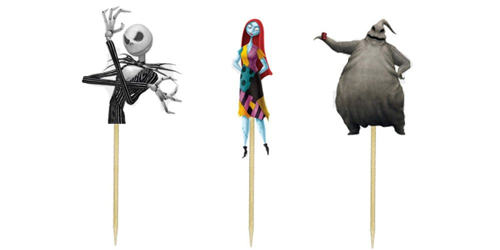 Amazoncom Nightmare Before Christmas Cupcake Toppers Kitchen