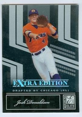 Josh Donaldson baseball card (Oakland Athletics Auburn Tigers) 2007 Donruss Elite #7 Rookie Card
