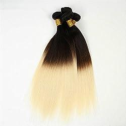 SuperWigy Hair Products Ombre Hair Extensions 8A Brazilian Virgin Hair 3 bundles total 150g 50g/pc Straight Blonde Brazilian Human Hair Weave Bundles 1B #613