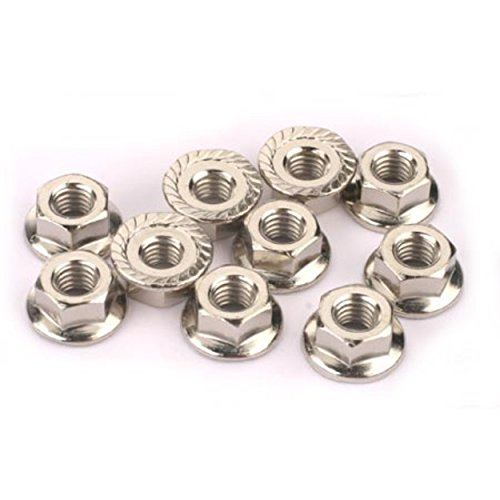 Traxxas 6135 4mm Flanged Nuts, Set of 10