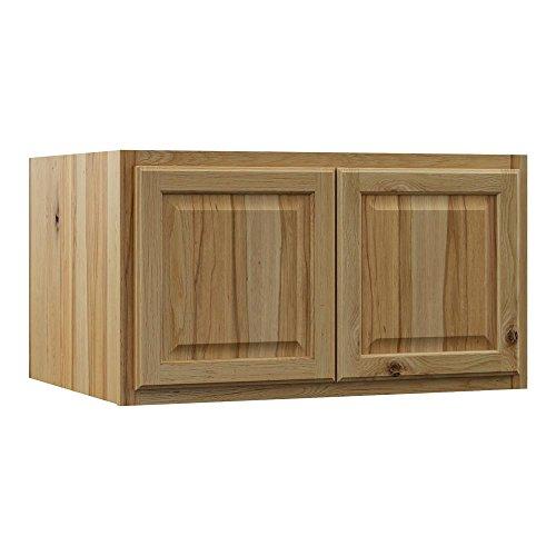 Hampton Bay Hampton Assembled 36x18x24 in. Above Refrigerator Deep Wall Bridge Kitchen Cabinet in Natural Hickory