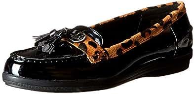 AK Anne Klein Women's Lalo Slip-On Loafer,Black/Black,6 M US