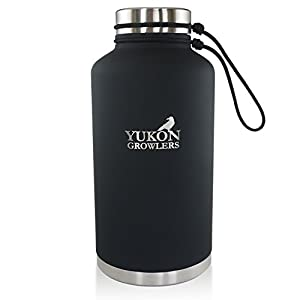 Keep Your Drink Cold for 24 Hours or Hot for 12 Hours with this Vacuum-Insulated Stainless Steel Water Bottle - 64 oz (Coal)