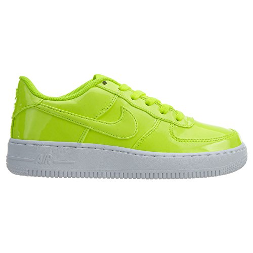 Nike AIR Force 1 LV8 UV (GS) Boys Basketball-Shoes AO2286-700_4Y - Volt/Volt-White-White by Nike (Image #2)