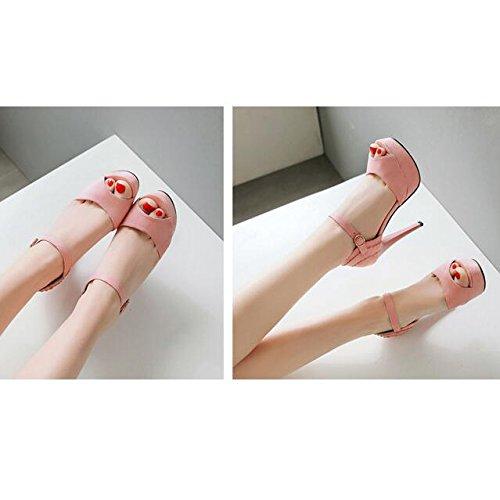 Bal Haut Toe Femmes Peep Stiletto Extrême Talons Chaussures Doux Mariage Talon Dames Parti Pink Forme Taille Plate De Strappy Talons 1Fxgqwf
