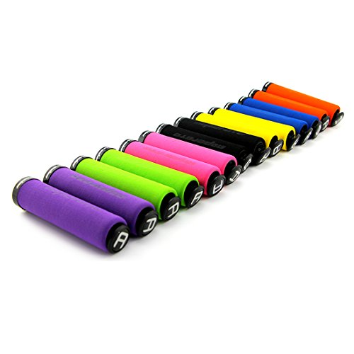 1pair Bicycle Handlebar Foam Grips with end plugs 7 colors for choosing