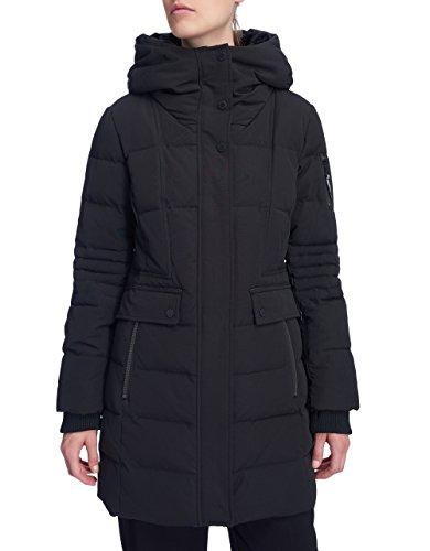 Hooded Mid Length Coat - Alpine North Women's Winter Fur Down Parka Jacket Hooded Mid-Length Coat
