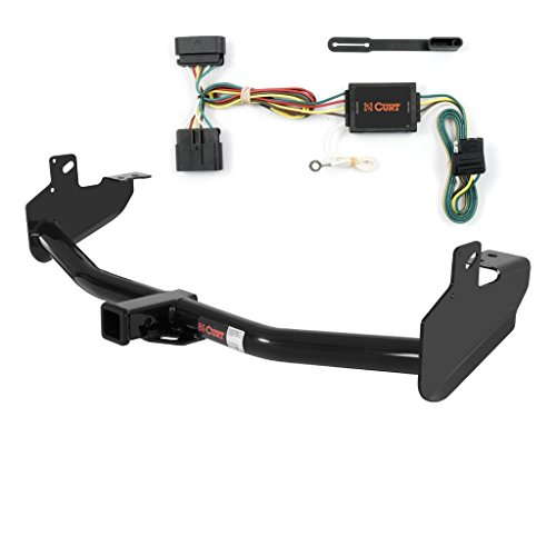 CURT Class 3 Trailer Hitch Bundle with Wiring for Chevy Colorado, GMC Canyon, Isuzu Truck - 13252 & 55510