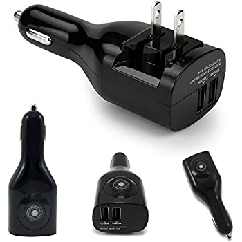 NDLBS Dual USB Car Charger Adapter,Car and Home Portable Travel Charger with Foldable Plug for iPhone 6 7 8 Plus 5S.Galaxy Note8 S7 S6 S8 Edge Plus,LG G5 6  V20(Black)