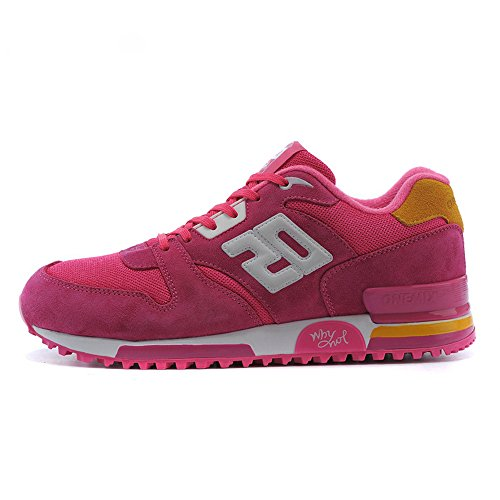 ONEMIX Women's Couple Casual Retro Sneakers Breathable Athletic Sports Shoes Pink Size 5.0 US by ONEMIX