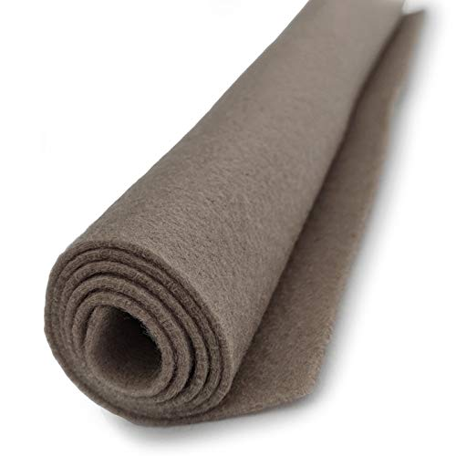 Toffee - Grey Brown - Wool Felt Giant Sheet - 35% Wool Blend - 1 36x36 inch XXL Sheet