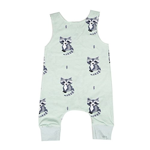 b33d0fa9fa9e puseky Baby Boys Girl Cute Cat Sleeveless Romper Jumpsuit Bodysuit Outfit  Clothes