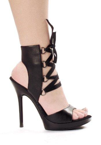 Ellie Shoes Women's 5 inch Heel Ankle High Sandal (Black PU;8)