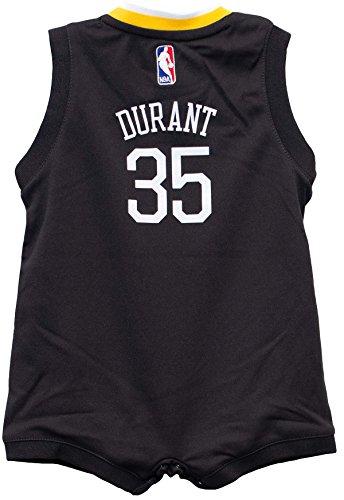 0bb1cf00d Outerstuff Kevin Durant Golden State Warriors Black Infant Jersey Onesie  (18 mon.