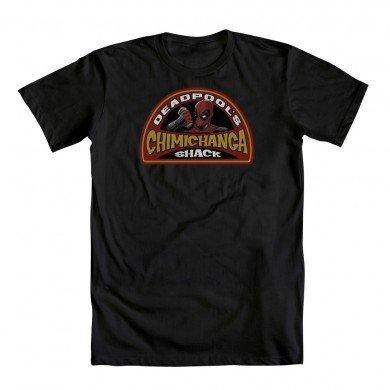 Marvel Deadpool Chimichanga Shack Adult Black T-Shirt (Adult - Newbury Stores
