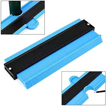 Sunronal Konturmessgerät, Kunststoff-Profilmessgerät 250 mm (10 Zoll) Konturmessgerät Duplizierer Formmessgerät Unregelmäßiges Konturmessgerät mit Skala für das Aufwickeln von Rohren