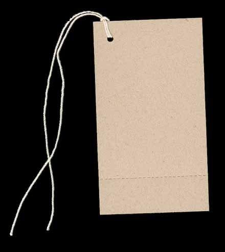 100 Large Blank PERFORATED KRAFT Hang Tags (2-1/8