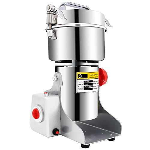 CGOLDENWALL 700g stainless steel high-speed grinder mill family medicial Mill Herb Grinder,pulverizer (110V(Volatge)) (110V (Voltage))