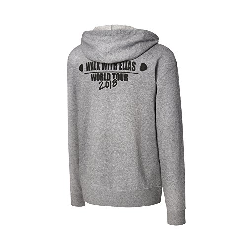 WWE Elias Walk With Elias Tour 2018'' Lightweight Hoodie Sweatshirt Heather Grey XL by WWE Authentic Wear