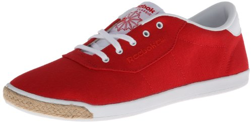 Reebok Women's CL Lady Duchess 30 TXT Lace-Up Fashion Sneaker,Red/White,11 M US