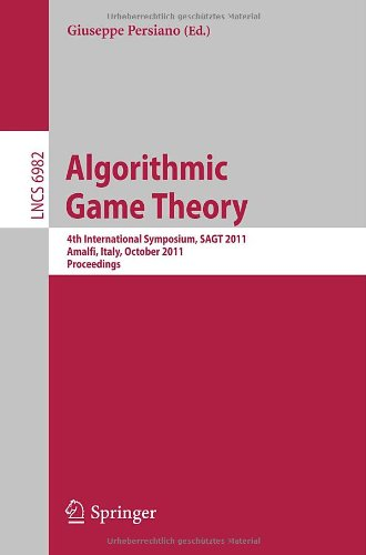 [PDF] Algorithmic Game Theory Free Download | Publisher : Springer | Category : Computers & Internet | ISBN 10 : 3642248284 | ISBN 13 : 9783642248283