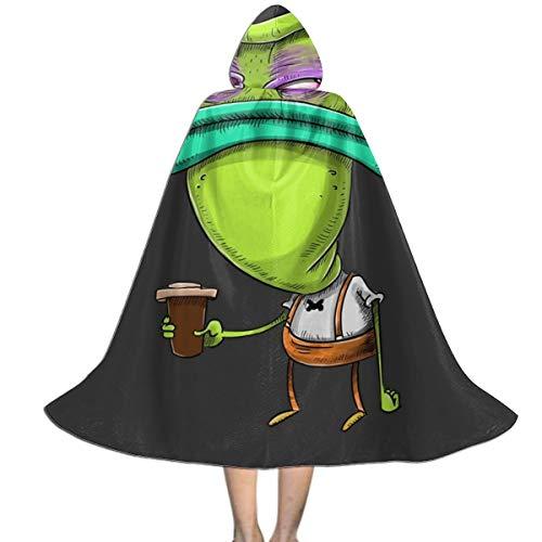 Mr Bighead Before Coffee Rockos Modern Life Unisex Kids Hooded Cloak Cape Halloween Xmas Party Decoration Role Cosplay ()