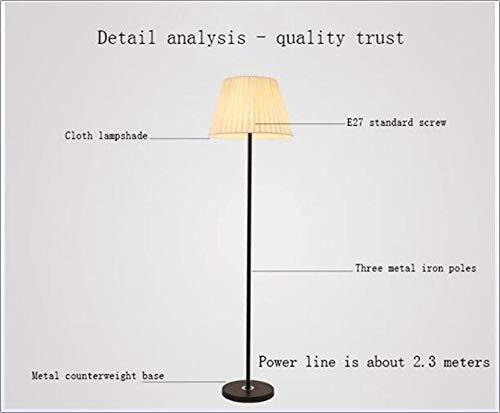 SNSNB Lámpara de pie, lámpara de pie con atenuación de LED ...