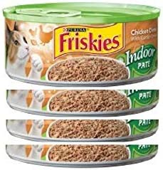 30 Cans of Purina Friskies Wet cat Food 5.5oz ea Indoor Pate Chicken Dinner with Garden Greens