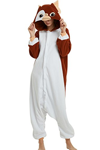 Brown And Cony Costumes - Es Unico Gizmo Mogwai Onesie Adult. Halloween Costume for Women, Men, Teens.